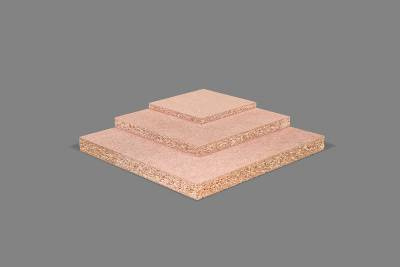 Raw particleboard high density